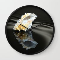 seashell Wall Clocks featuring Seashell by Lyn Evans