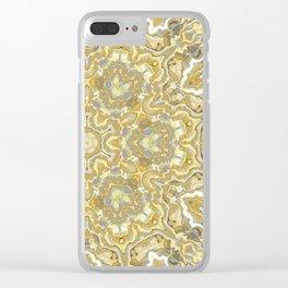 Orange and Yellow Kaleidoscope 1 Clear iPhone Case