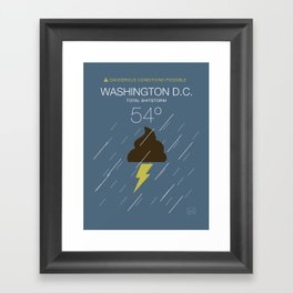Total Shitstorm Framed Art Print
