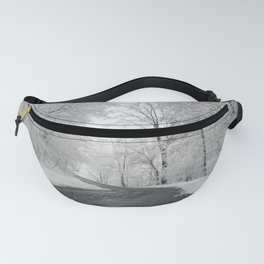 Black and White - Winter roads Fanny Pack