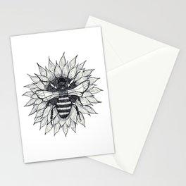Bee and Sunflower Stationery Cards