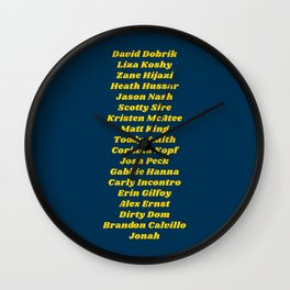 Vlog Squad Navy II Wall Clock
