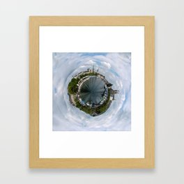 Small Planet Z Framed Art Print