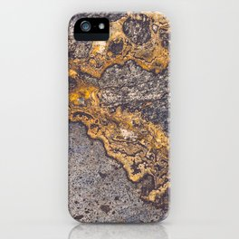 Gold Inlay Marble II iPhone Case