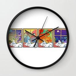 Cat Sleeping (Awkward IRL #4) Wall Clock