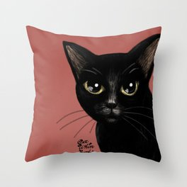 Black in red Throw Pillow