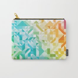 Colorful Geometric Pattern Saturated Rainbow Pattern Design (Red Pink Orange Yellow Green Blue) Carry-All Pouch