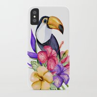 toucan iPhone & iPod Cases featuring Toucan by Julia Badeeva