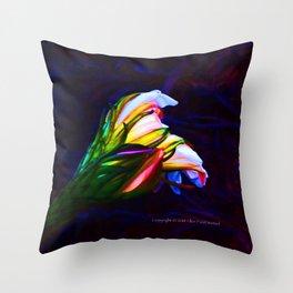 """""""Cactus Flower At Sunset #85"""" Photograph Throw Pillow"""