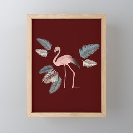 Flamingo on the Go ! Framed Mini Art Print