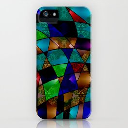 Abstract colorful magic pattern two iPhone Case