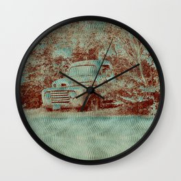 1950 Ford F100- Textured Rust Wall Clock