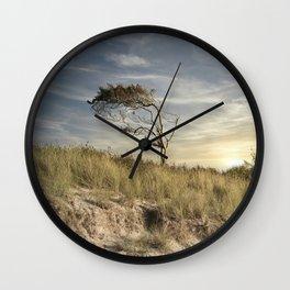 Dramatic Baltic Sea Sunset Wall Clock
