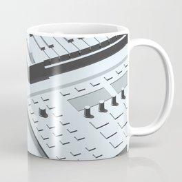 Low Poly Studio Objects 3D Illustration Grey Coffee Mug