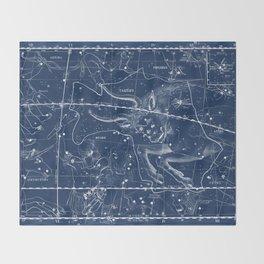 Taurus sky star map Throw Blanket