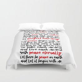 Let There Be Peace on Earth Duvet Cover