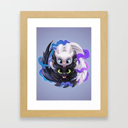 Dragon Black White Framed Art Print