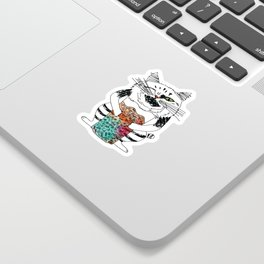 Emotional Cat. Playful. Sticker