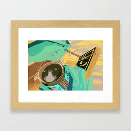 cigs and beer Framed Art Print
