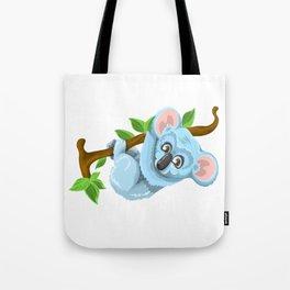 Blue Koala Cartoon Tote Bag