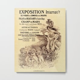 Expo Commerce Paris 1893 Metal Print