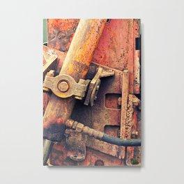 Old rusty iron piece Metal Print