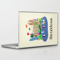 barcelona Laptop & iPad Skins featuring Barcelona  by uzualsunday