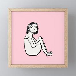 Resting in pink Framed Mini Art Print