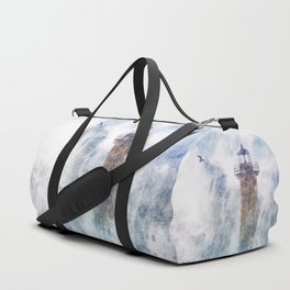 Storm in the lighthouse Duffle Bag