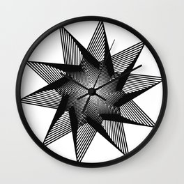 10 Pointed Star Wall Clock