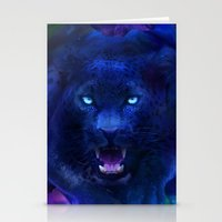 panther Stationery Cards featuring Panther by Michael White