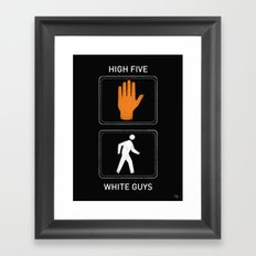 High Five White Guys Framed Art Print