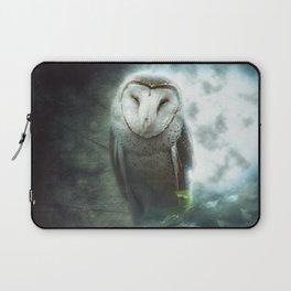Barn Owl in the Midnight Light Laptop Sleeve