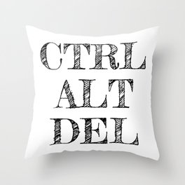 CTRL ALT DEL Throw Pillow