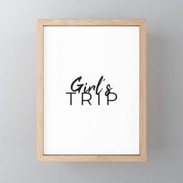 Girl's Trip vocation Travel Framed Mini Art Print