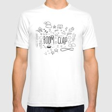 BOOM CLAP MEDIUM White Mens Fitted Tee
