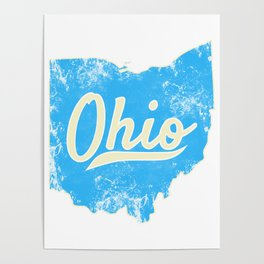 Ohio Gift I Love My Ohio Home Cleveland Cincinnati Akron OH Poster