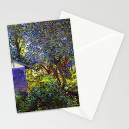 Giverny Blossoming Lilac Landscape, in Monet's Garden by Lillian Cabot Perry Stationery Cards