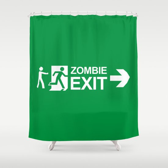 Zombie Exit Shower Curtain