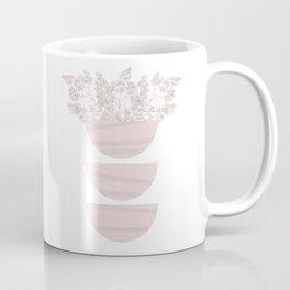 Mid Century Modern Flower Bowls Coffee Mug