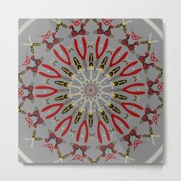 Toolbox Mandala Metal Print