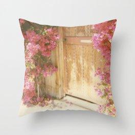 California Bougainvillea Throw Pillow