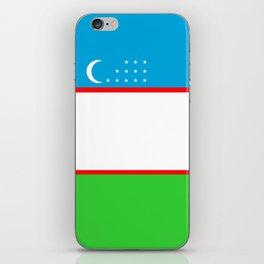 Uzbekistan country flag iPhone Skin