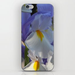 Irises in Blue and White iPhone Skin