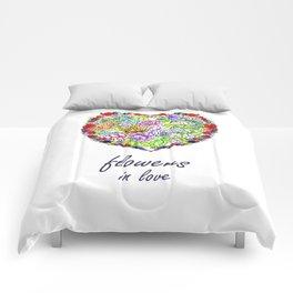 Flowers in Love #Artlove Comforters