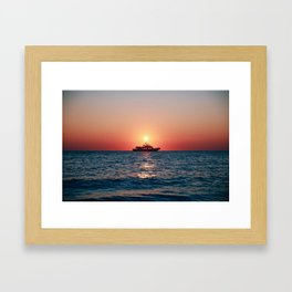 Cape May Sunset Cruise Framed Art Print