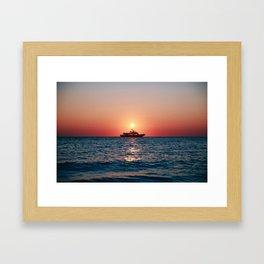 Cape May Sunset Cruise Framed Art Print