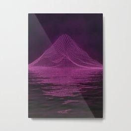 WireFrame Mountain on the Lake Metal Print