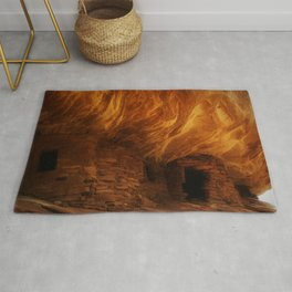 House on Fire with Modification Rug