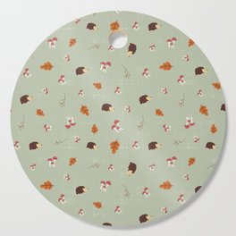 Hedgehogs In The Autumn Forest Cutting Board